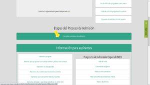 Consultar los resultados del examen de admisión UNAL