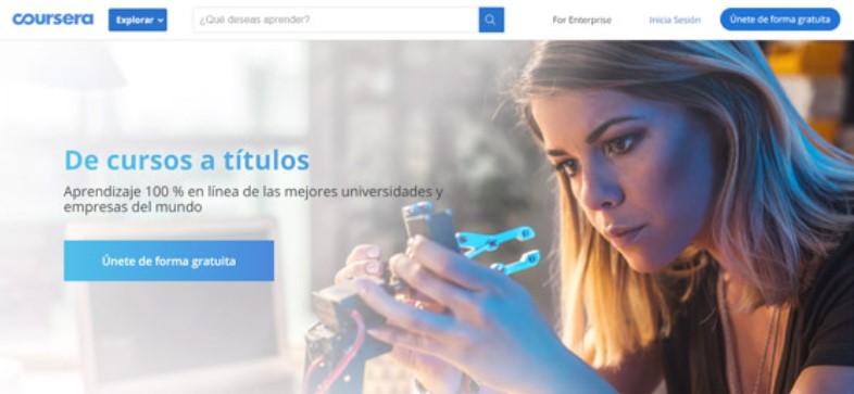 Coursera, cursos gratis online certificables