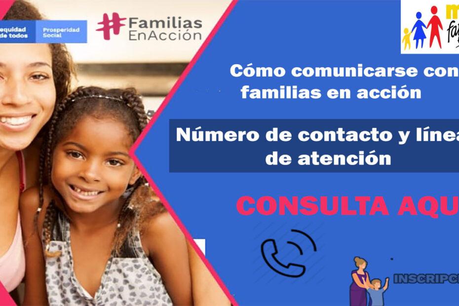 Número de contacto familias en acción