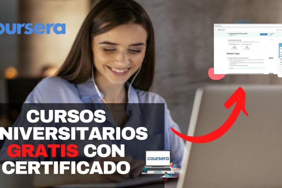 Cursos en línea gratís con certificado