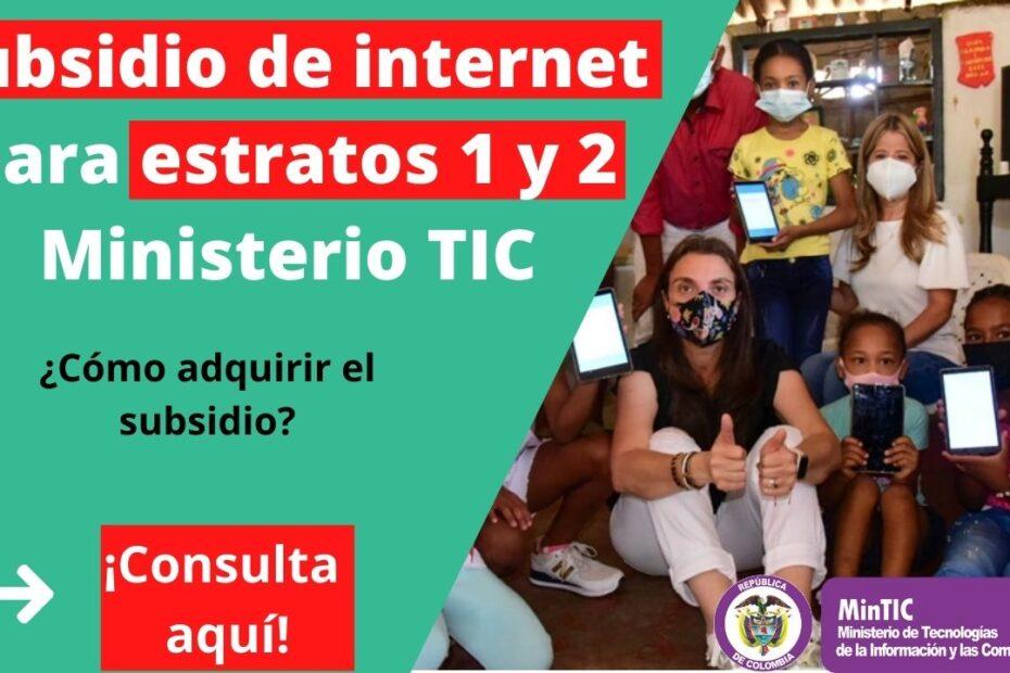 Subsidio de internet estratos 1 y 2