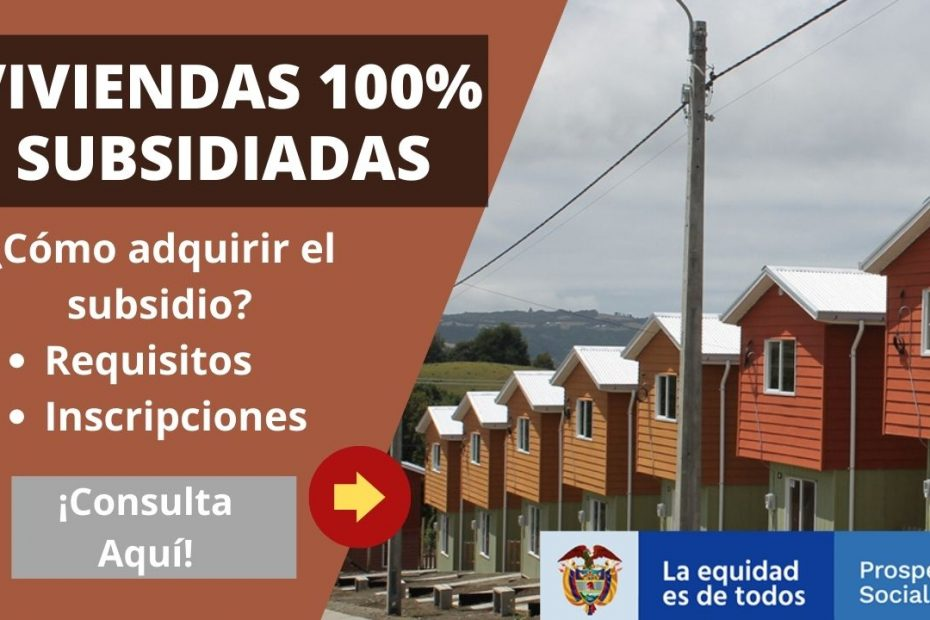 Viviendas 100% subsidiadas